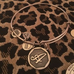 "NWOT Alex and Ani Monogram Bangle ""A"""